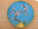 Фруктовница, конфетница и тарелка Клуазоне одним лотом photo 9
