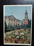 """Открытка """"Спасскаябашня и здание Президиума"""" (1957), фото №2"""