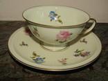 Чайная пара чашка блюдце фарфор клеймо Розенталь Rosenthal Германия