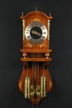 Настенные маятниковые часы Warmink Wuba JWA с боем. Винтаж. Голландия. (0189)