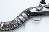 Афганское кремневое ружьё (длина см) с английским замком, богатые инкрустации, 19й век photo 3