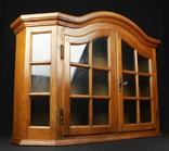Большая, двустворчатая витрина. Винтаж. Европа. (0190)