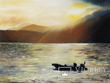Закат и лодка, худ.Высочинская Т.Г., 30х40 см, масло