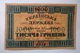 1000 гривень 1918 року УНР photo 1