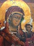 Богородица шикарного письма в окладе photo 2