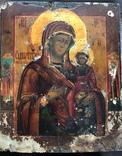 Богородица шикарного письма в окладе photo 5