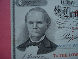 США чек 1915 год на 75,90$ водяные знаки