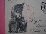 США чек 1888 год на 98,58$