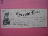 США чек 1888 год на 98,58$ photo 2
