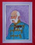 """Картина """"Франц Йосиф"""" 48х35 см, фото №2"""