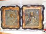 2 иконы в серебряных окладах 1844 года photo 1