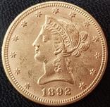 10 долларов 1892 года photo 1