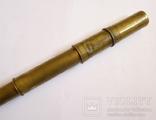 Старинная бронзовая подзорная труба. Длинна - 40,5 см. photo 2