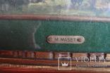 Картина Автор M. Maset, размер с рамой 27*20 photo 8