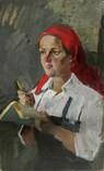 Картина портрет Советского работника photo 1