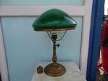 Настольная лампа НКВД с зеленым стеклом
