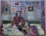 Олена Яблонская Портрет соседки 49 на 39 см.