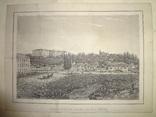 Крещатик Киев 1850-е годы Литография Оригинал