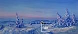 """""""Холодная зима"""" масло, холст на подрамнике 90*40см , 2016, автор Янишевская Ю.В."""