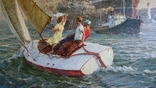 """Мокрожицкий В. Л. """"Встреча китобойной флотилии Слава"""" в 1956 г. photo 3"""