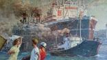 """Мокрожицкий В. Л. """"Встреча китобойной флотилии Слава"""" в 1956 г. photo 4"""