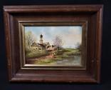 Картина масло пейзаж подпись Wils