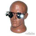 Очки для ремонта часов и ювелирных изделий ( 20х) с подсветкой Glasses 9892A
