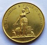 Медаль «За благонравие и успехи в науках». Золото photo 1
