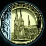 Набор юбилейных монет, родий+позолота 24карата, Германия