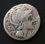 Roma, X/LFLAMIN Денарий Римской республики Л.Фламиний Хилон 109-108 гг. до н.э.