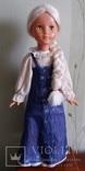 Кукла паричковая на резинка. Высота 77 см. Клеймо.