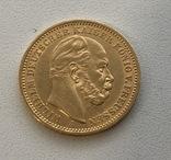 20 марок 1886 год Пруссия золото 7,96 грамм 900`