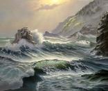 Морская симфония по мотивам Б.Пикеринга,холст 50*60 см, масло, ручная работа.