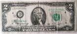 Юбилейные 2 доллара 1976 г. Спецгашение / серия D 01014894 A | C3 | C13| 4