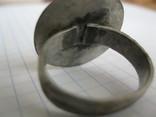 Серебряный перстень Галыцко - Волынского княжества 13 - 14 века . photo 3