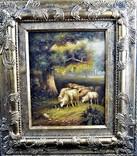Картина Пейзаж Лес Холст Масло Подпись Европа