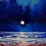 Картина маслом ''Луна''. Холст, масло. 35*35. 2017г.