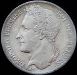 5 франків 1849 року, Бельгія, Леопольд-прем'єр, срібло