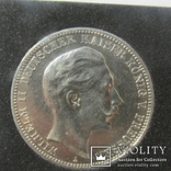 Германия, Пруссия. 3 марки 1909 г. (XF)