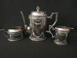 Винтажный кофейный набор. Серебрение. 3 предмета.