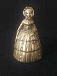Коллекционный бронзовый колокольчик. Дама. Европа.