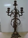Великий бронзовий підсвічник на 4 свічки
