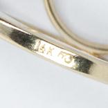 Золотые серьги с жемчугом и бриллиантами, фото №4