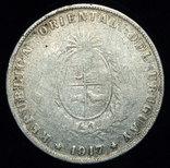 Уругвай 50 сентизимо 1917 серебро