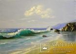 """""""Просто море"""", масло/ холст на подрамнике 70*50см 2014 г. автор Янишевская Ю.В. photo 1"""
