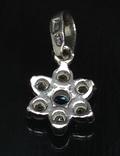 Кулон, голубой камень, цирконы, фото №3