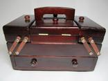 Ящик для шитья и рукоделия, раскладной, с аксесуарами