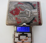 Портсигар СССР эмали,позолота, до 1940 года, серебро 171,56 грамм photo 3