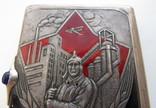 Портсигар СССР эмали,позолота, до 1940 года, серебро 171,56 грамм photo 4