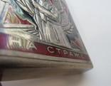 Портсигар СССР эмали,позолота, до 1940 года, серебро 171,56 грамм photo 9